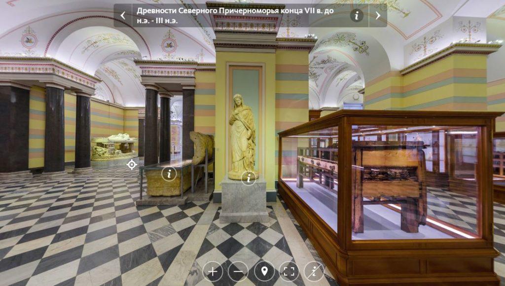 Виртуальный визит в Эрмитаж на официальном сайте музея